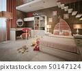 卧室 新艺术运动 海洋 50147124