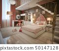 卧室 海洋 床 50147128