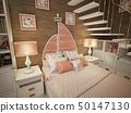 卧室 海洋 床 50147130