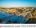 cityscape of porto in portugal with luiz I bridge 50150449