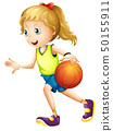 Female basketball player character 50155911