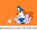 澆水的生活和關心自然 50158198