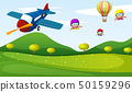 Airplane and sky activity 50159296