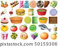 与众不同的 不同的 食物 50159306