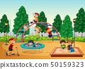 Kids in playgrond scene 50159323