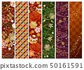 日本樣式線秋天冬天顏色 50161591