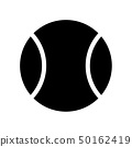 Tennis ball. Vector black icon isolated 50162419