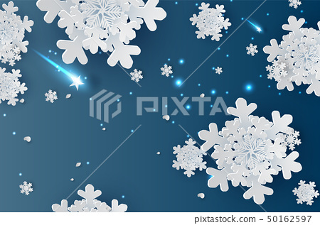 illustration of Snowflakes for winter season  50162597