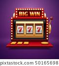 Jackpot slot casino machine. Vector one arm bandit 50165698
