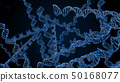 Abstract luminous structure of DNA molecule. 50168077