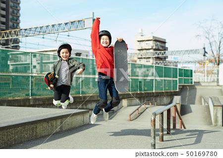 兒童滑冰公園肖像 50169780