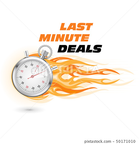 Last minute deals, hurry up - stopwatch in flame 50171010