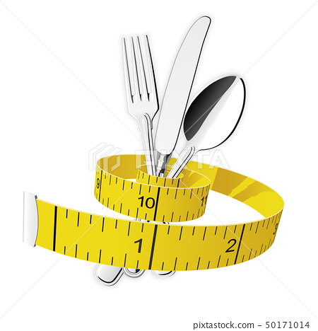 Diet and lose weight concept - measuring tape 50171014