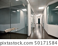 Beautiful modern office interior with a glass door 50171584