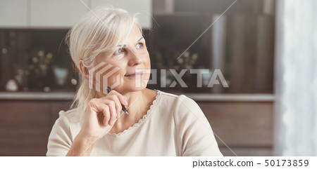 Cheerful senior woman portrait 50173859