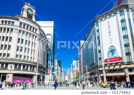 東京銀座4丁目交叉口風景 50174662