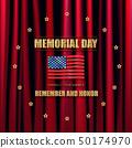 Memorial day. Greeting card. 50174970