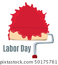Paint roller like happy labor day. concept of international holiday in mayday like labourday. 50175761