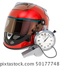 Racing helmet with whistle and stopwatch 50177748