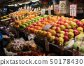 Fruit stall at Pike Place Market in Seattle 50178430