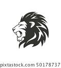 Heraldic lion logo design. Isolated on white background 50178737