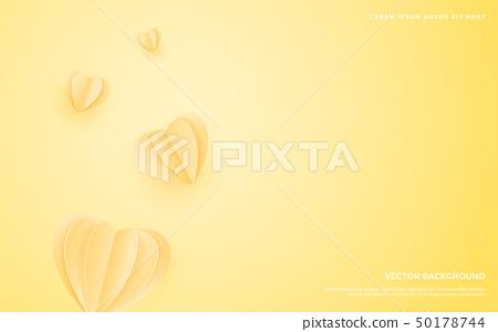 페이퍼 아트 배경, 발렌타인 배경,로맨틱 러브 백그라운드 50178744