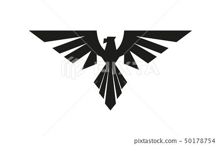 Heraldic eagle logo. Isolated on white background 50178754