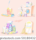 Set of Cleaning tools. Washing machine, Detergents Cleanser, Water bucket for Mopping, Chemicals 50180432