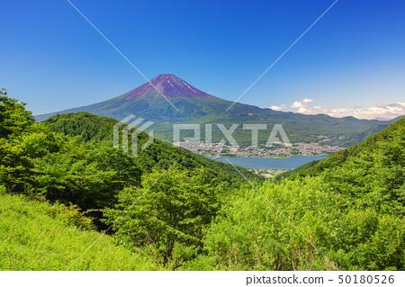 從夏天和富士山和川口湖看富士山 50180526
