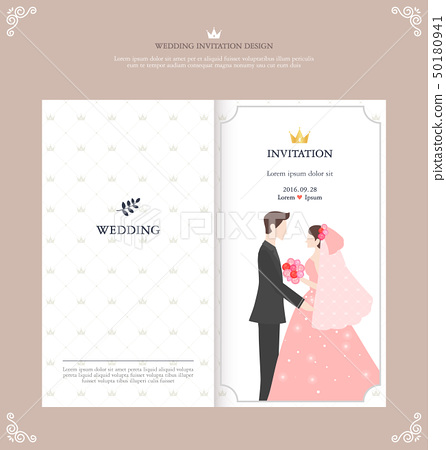 Invitation postcard design 50180941