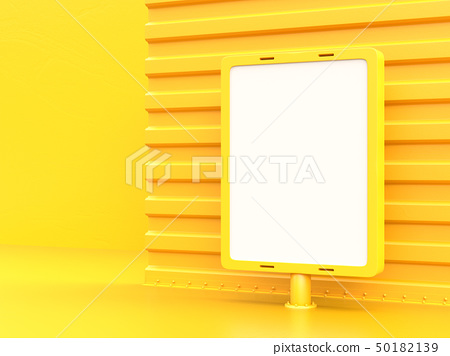 Billboard mockup for advertising yellow 50182139