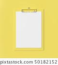 Clipboard mockup yellow color 50182152