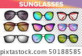 Sunglasses Various Styles And Types 3D Vector Set 50188585