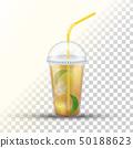 Ice Tea Plastic Takeaway Vector 3D Cup 50188623