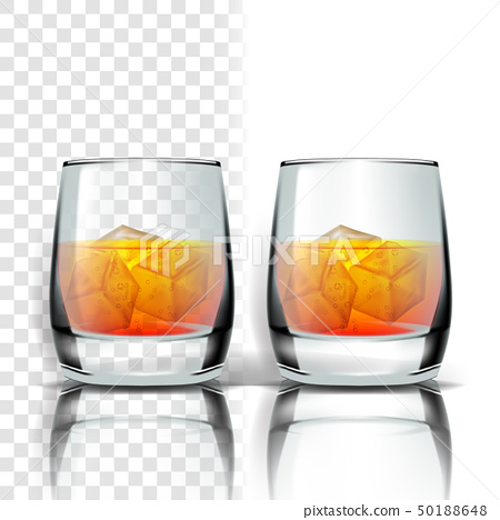 Ice Cubes Vector Stock Ilration, Glass Ice Cubes Vector