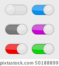 Toggle switch buttons. Colored On and Off web icons 50188899