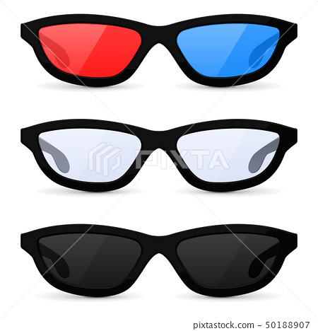Glasses set. Sunglasses and 3d movie theater glasses 50188907