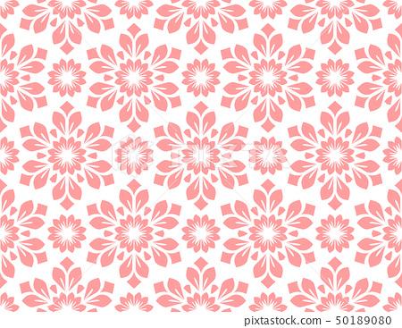 Flower geometric pattern. Seamless background. 50189080