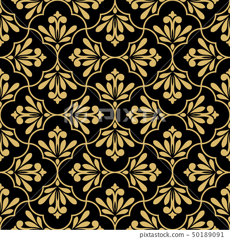 Flower geometric pattern. Seamless background. 50189091