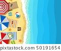 Summer Beach Vacation Sunbed 50191654