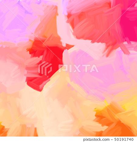 抽象的鮮豔的五顏六色的油畫肌理 50191740