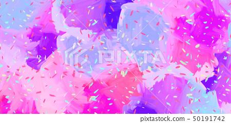 抽象的鮮豔的五顏六色的油畫肌理 50191742