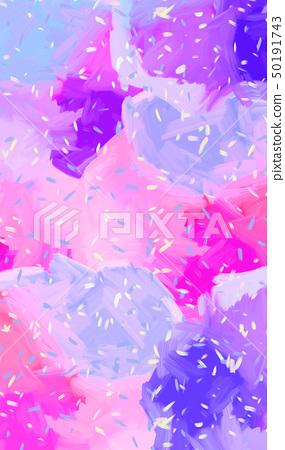 抽象的鮮豔的五顏六色的油畫肌理 50191743