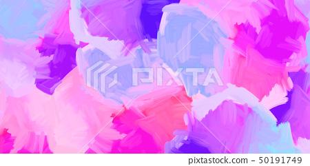 抽象的鮮豔的五顏六色的油畫肌理 50191749