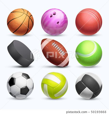 Different 3d sports balls vector collection isolated on white background 50193668