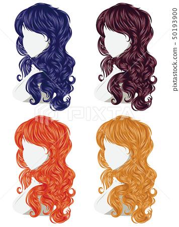 Curly Hair Style - Stock Illustration [50193900] - PIXTA