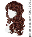 Curly Hair Style 50193901