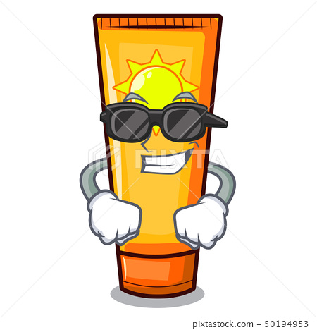 Super cool sun cream isolated in the character 50194953