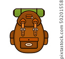 Vintage hipster camping backpack.Vector  50201558