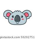 Cute smiling happy koala bear face. 50202751